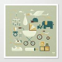 nursery Canvas Prints featuring NURSERY by Christopher Vela