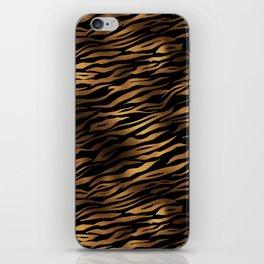 Gold and black metal tiger skin iPhone Skin