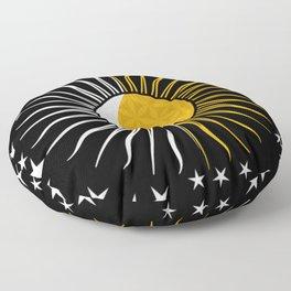 Sun Moon & Stars Flower Of Life Space Spiritual Zen Bohemian Hippie Yoga Mantra Meditation Floor Pillow