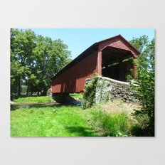 A Bridge in the Country Canvas Print