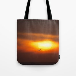 Into the Sunset. Tote Bag