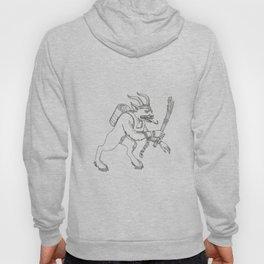 Krampus With Stick Doodle Art Hoody