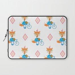 Girl Fox with Pink Diamond Laptop Sleeve