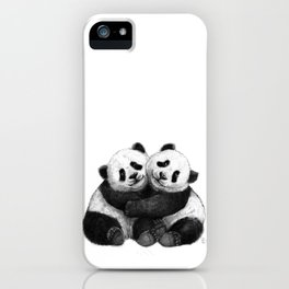 Panda's Hugs G143 iPhone Case
