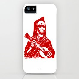 Grim Reaper With Guitar iPhone Case