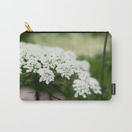 White Queen Ann's Lace Carry-All Pouch