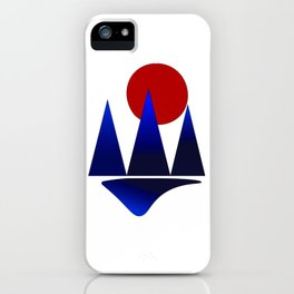 moon mountain iPhone Case