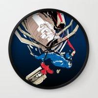 gravity Wall Clocks featuring gravity by wonman kim