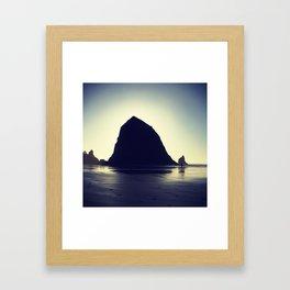 Haystack Rock Framed Art Print