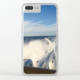 Ocean Boating Clear iPhone Case