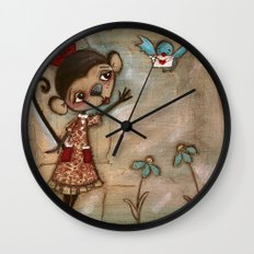 I Feel the Same  -  A Monkey, A Blue bird, and Love Wall Clock