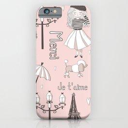 Paris Girl - Pink iPhone Case