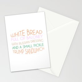 Trump Sandwhich Stationery Cards