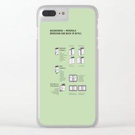 Buchbinden – Merkmale Broschur und Buch im Detail (in German) Clear iPhone Case