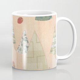 Retro Christmas Light Wood Coffee Mug