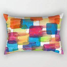 Colorful Bubblewrap POSTER Watercolor ART ABSTRACT Print by Robert R Splashy ART Rectangular Pillow
