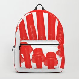bolts, intense red Backpack