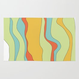 Curly lines of colour pattern Rug