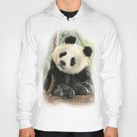 china Hoodies featuring China Bear by Trudi Simmonds