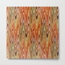 Zigzag Orange Metal Print