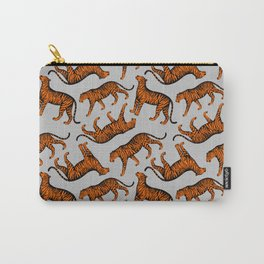 Tigers (Grey and Orange) Carry-All Pouch
