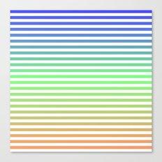 Beach Blanket Blue/Green/Orange Canvas Print