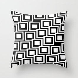 Black and White Squares Pattern 02 Throw Pillow