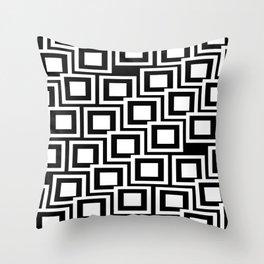 Black and White Squares Pattern 02 Throw Pillow