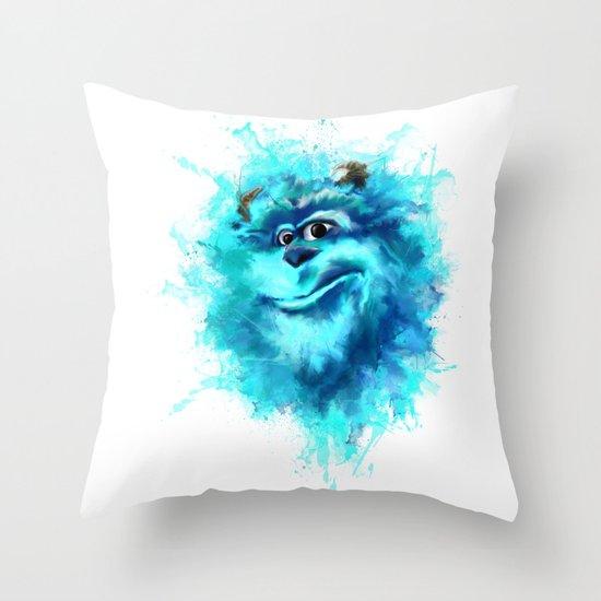 monster ink Throw Pillow