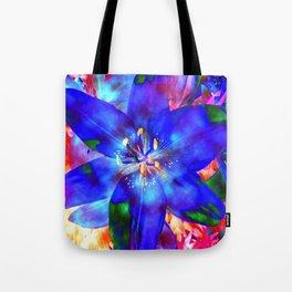 Flashy Flower Tote Bag