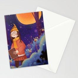 Night Magic Girl Stationery Cards