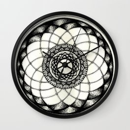 complicated flower Wall Clock