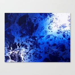 Blue Marble Dream Abstract Canvas Print