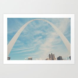 the gateway to the west ... Art Print