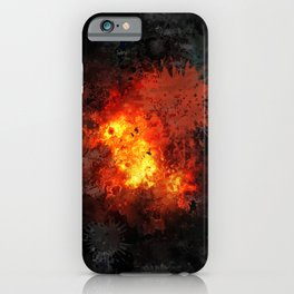 Comic book explosion iPhone Case