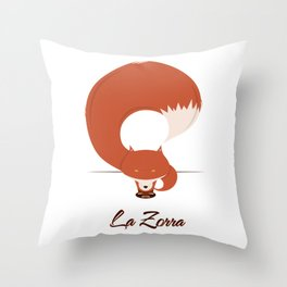La Zorra Throw Pillow