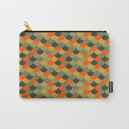 Orange & Green Fish Scale Pattern Carry-All Pouch