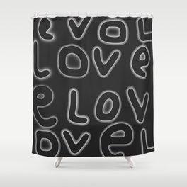 Love pattern 3 Shower Curtain