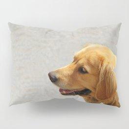 Happy Golden Retriever Pillow Sham