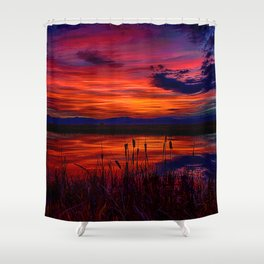 Ninepipe NWR Shower Curtain