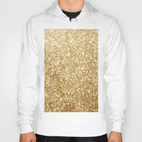 gold glitter Hoodies featuring Gold glitter by Masanori Kai