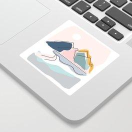 Minimalistic Landscape Sticker