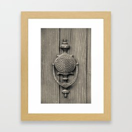 Knocker Framed Art Print