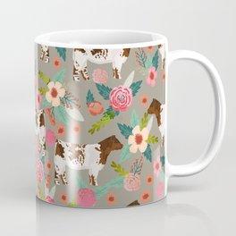 Shorthorn cattle breed farm homestead cows shorthorn cow floral Coffee Mug