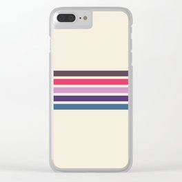 Five Trendy Stripes on White 17 Clear iPhone Case