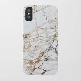 Marble White & Gold iPhone Case