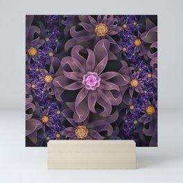 UltraViolet Glass Garden of Midnight DahliaFlowers Mini Art Print