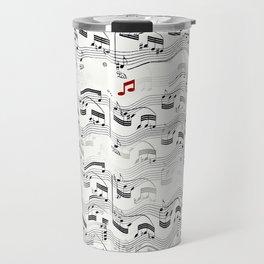 Wavy Musical Pattern Travel Mug