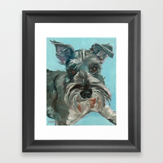 Schnauzer Dog Portrait by evelynmccorristinpeters