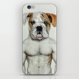 muscle dog iPhone Skin